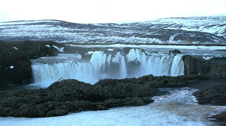 godafoss waterfall, iceland waterfalls, iceland nature scenery