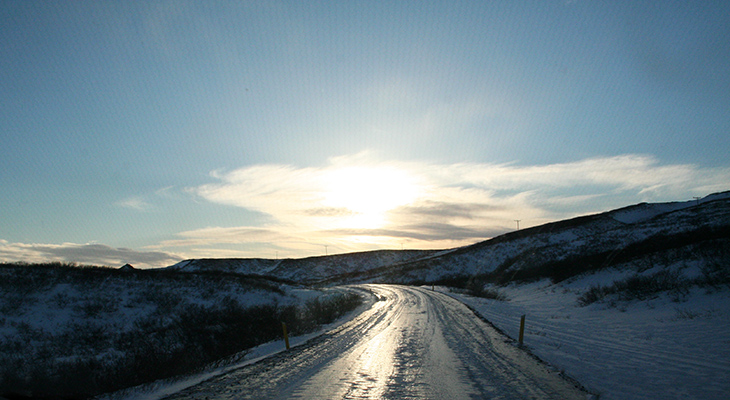 ring road iceland, icy roads, road ice, winter scenery, nature scenery iceland