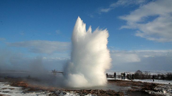 strokkur geyser, icelands golden triangle, golden circle iceland, geysir, iceland nature scenery