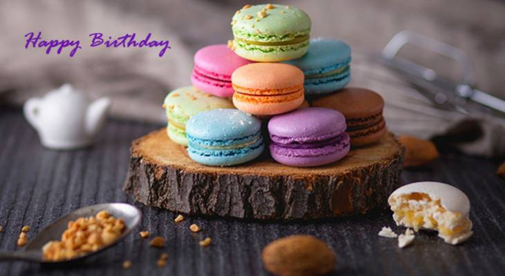 happy birthday wishes, birthday cards, birthday card pictures, famous birthdays, macarons, foood, treats, cookies