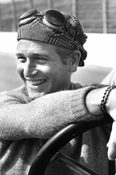 paul newman 1971, american actor, racing car driver, 1970s television documentary, once upon a wheel
