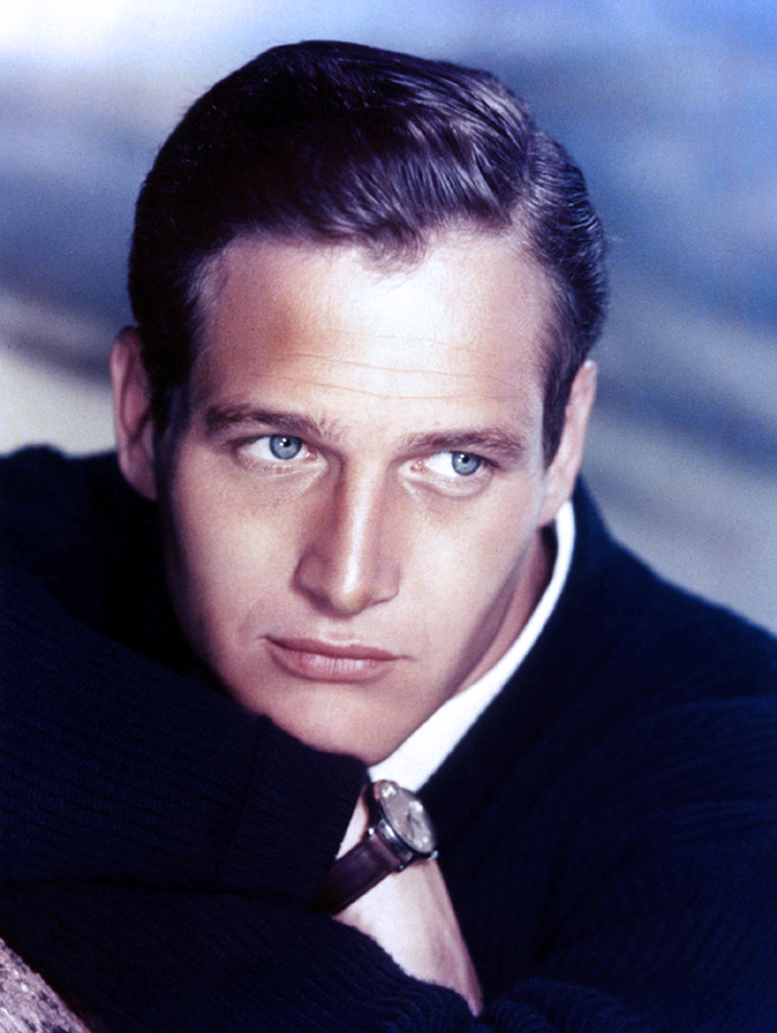 paul newman 1950s, american actor, blue eyes movie stars, 1950s movies, the long hot summer, cat on a hot tin roof, 1960s films, hud, harper, cool hand luke,
