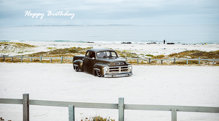 happy birthday wishes, birthday cards, birthday card pictures, famous birthdays, beach, studebaker, vintage car, automobile