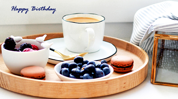 happy birthday wishes, birthday cards, birthday card pictures, famous birthdays, macarons, fruit, berries, coffee, food
