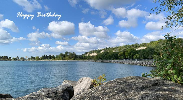 happy birthday wishes, birthday cards, birthday card pictures, famous birthdays, scarborough bluffs, lake ontario, toronto, nature scenery