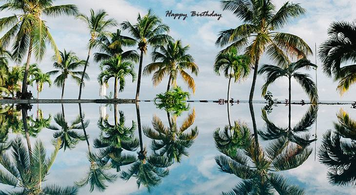happy birthday wishes, birthday cards, birthday card pictures, famous birthdays, beach, palm trees, nature scenery, mauritius, oasis