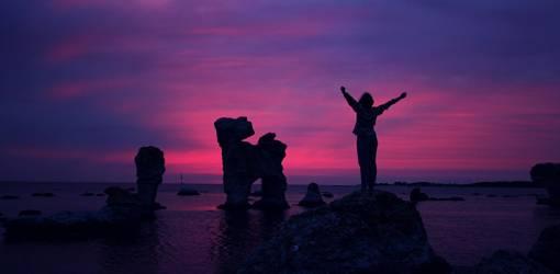 faro sweden, sunset, victory, self esteem, self image, happiness, confidence