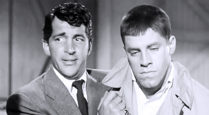 dean martin, jerry lewis, 1950s movies, comedy films, scared stiff 1953 movie, american actors, crooner, singer, comedian