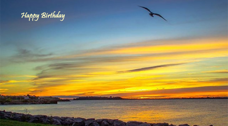 happy birthday wishes, birthday cards, birthday card pictures, famous birthdays, birds, sunset, lake ontario, kingston