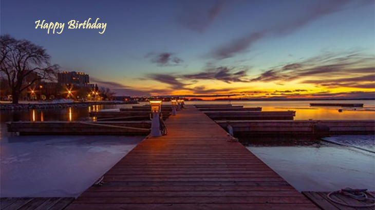 happy birthday wishes, birthday cards, birthday card pictures, famous birthdays, sunset, kingston pier, lake ontario, clouds