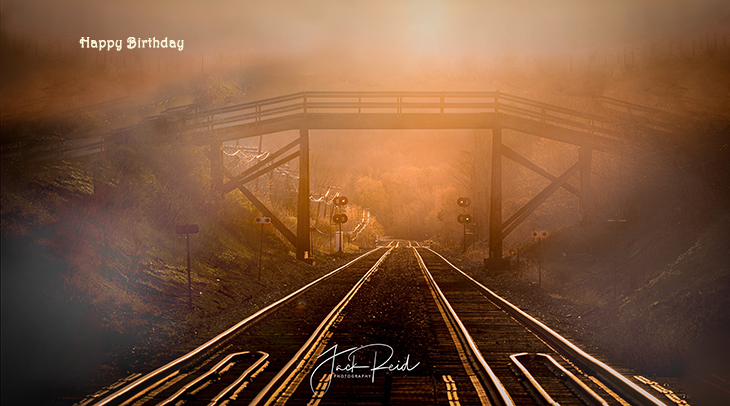 happy birthday wishes, birthday cards, birthday card pictures, famous birthdays, train tracks, sunset, toronto, ontario, nature scenery