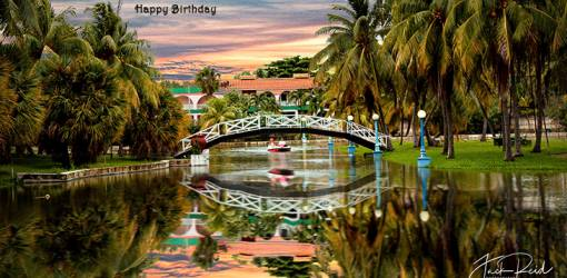 happy birthday wishes, birthday cards, birthday card pictures, famous birthdays, cuba, resort, sunset, bridge