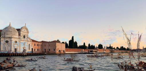isola di san michele, abandoned venetian lagoon islands, venice italy, francesco guardi, monastery, renaissance church, cemetary island, domed capella emiliani,