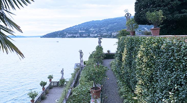 isola bella palazzo, borromean summer palace, borromea palazzo, italianate baroque gardens, terraces, stresa italy