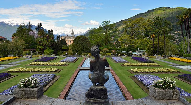 villa taranto giardini botanici, lake maggiore italy, piedmont, botanical gardens, sculptures, flowerbeds, terraced gardens, historical sites, captain neil mceacharn