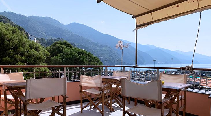 cinque terre coast, monterosso al mare view, italian riviera