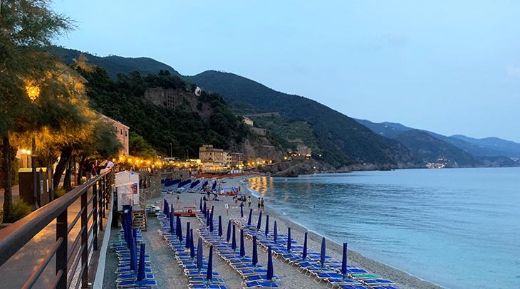monterosso al mare beach, new monterosso, via fegina, sunset, italian scenery, cinque terry, italian riviera