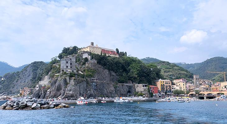 torre aurora restaurant, monterosso al mare, cinque terre dining, italian riviera, convent of the capuchin friars, old monterosso beach