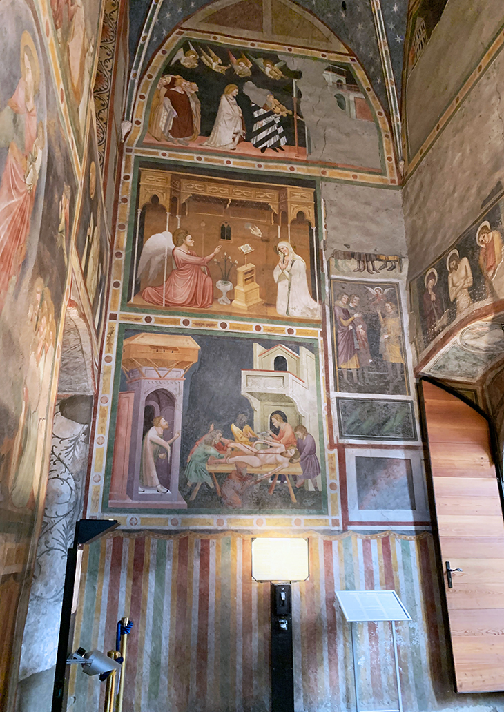 dominican church, chiesa dei domenicani, bolzano italy churches, bozen cathedrals, st johns chapel, giotto murals, martyrdom of st bartholomew