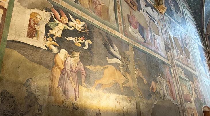 dominican church, chiesa dei domenicani, bolzano italy churches, bozen cathedrals, st johns chapel, giotto murals, frescoes, the triumph of death,