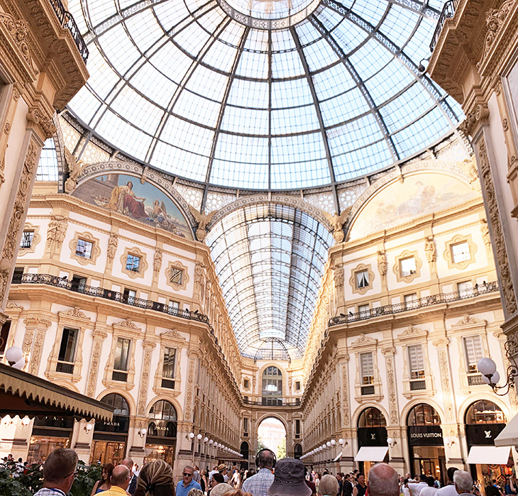 galleria vittorio emanuele, piazza del duomo, milan italy, neoclassical architecture, georgian style architecture, milan shopping centre, shopping arcade milan, things to see in milan, what to do in milan
