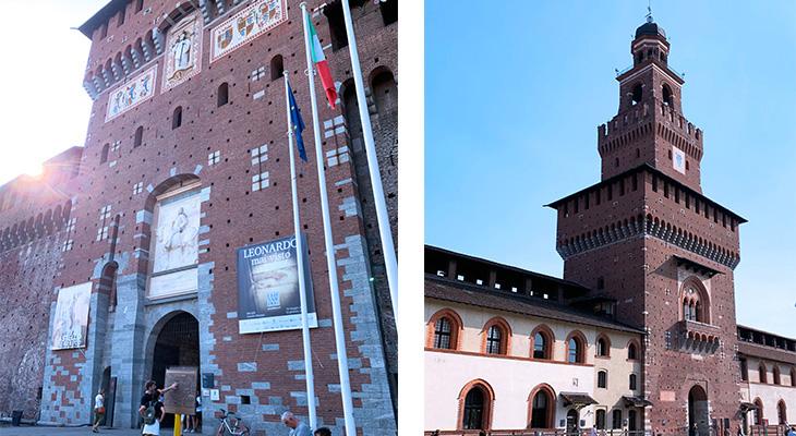 sforza castle, torre del filarete, castello sforzesco, milan italy castle, francesco i sforza castle, medieval towers, things to see in milan, what to do in milan