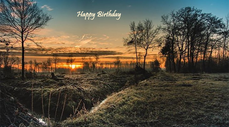 happy birthday wishes, birthday cards, birthday card pictures, famous birthdays, kingston, scenery, sunset, nature, trees, lake