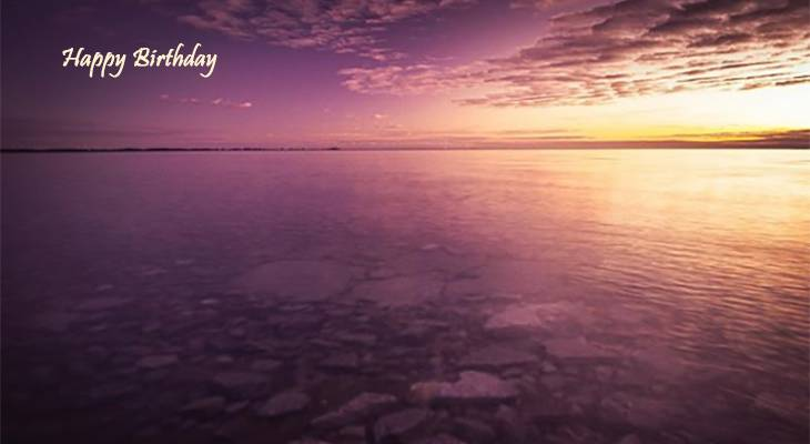 happy birthday wishes, birthday cards, birthday card pictures, famous birthdays, sunset, lake ontario, nature, scenery, pink