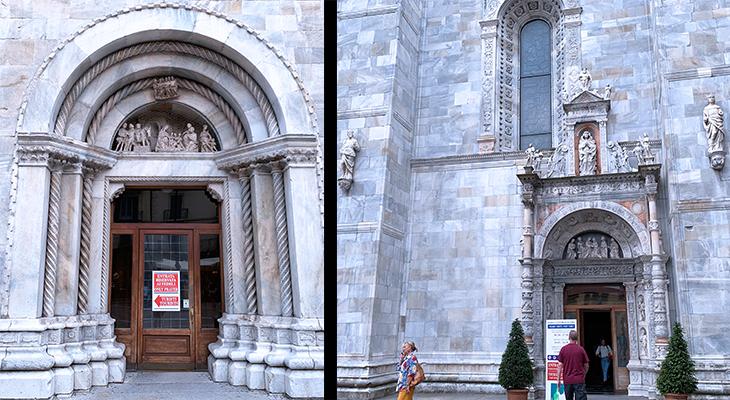 como cathedral, duomo di como, cattedrale di santa maria assunta, como church doors, adoration of the shepherd relief, door of the frog, lake como, italy, things to see in como, what to do in como