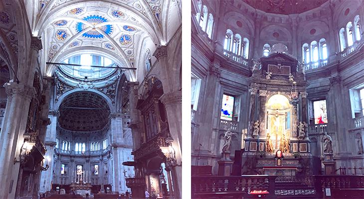 como cathedral, duomo di como interior, cattedrale di santa maria assunta, como church inside, church altars, chrucifixion of christ, lake como, italy, things to see in como, what to do in como