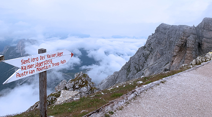 lagazuoi mountains, dolomites, italian alps, northern italy, austrian mountain troop path, world war i, the great war, the white war