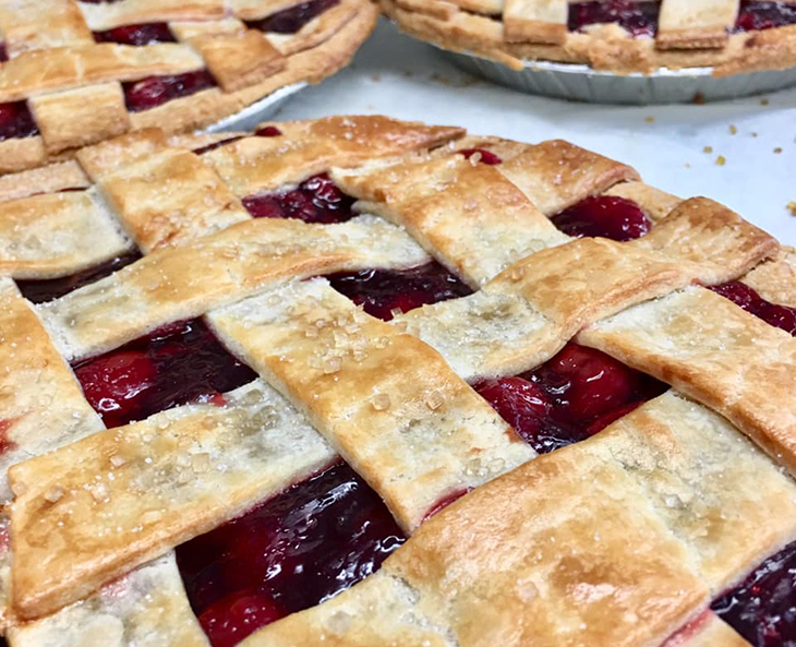 hamilton meat pie co, cherry pie, flaky pie crust, hand made fruit pies, hamilton ontario pie company