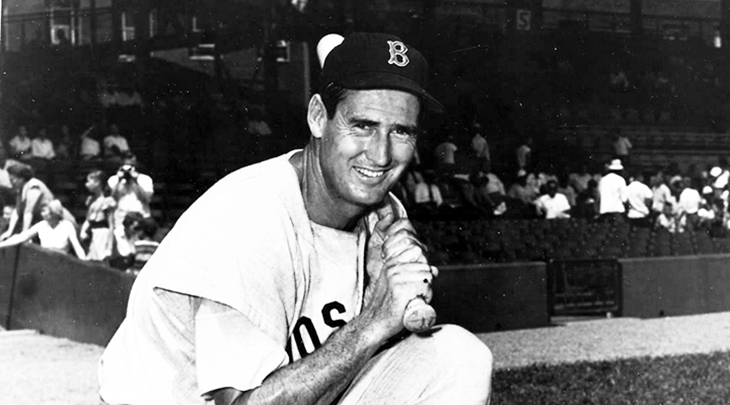 ted williams, american baseball player, mlb left fielder, boston red sox players, american league home run leader, rbi leader, 1949 american league mvp, mlb mvp, author, the science of hitting
