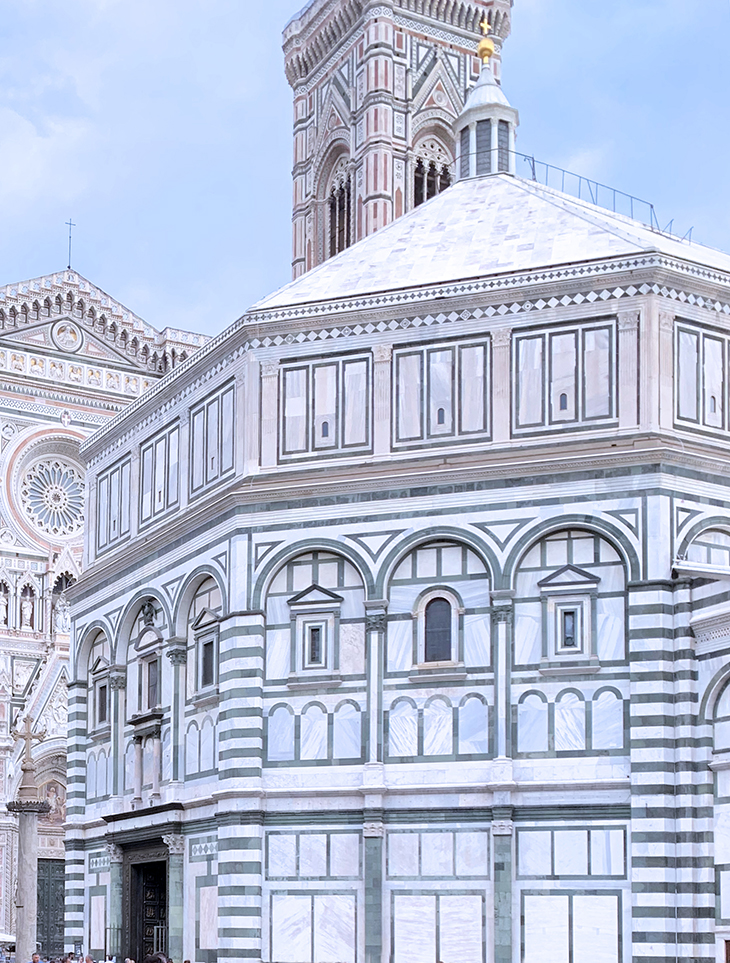 florence baptistery, duomo di firenza, florence cathedral complex, baptistery of st john, bronze doors, piazza del duomo, giottos campanile, unesco world heritage site, florence italy, northern italy, firenze,