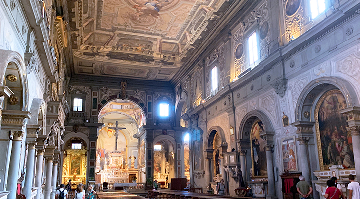 chiesa di san salvatore di ognissanti, florence church, church of san salvatore di ognissanti interior, umiliati, franciscan, florence italy, northern italy, firenze,