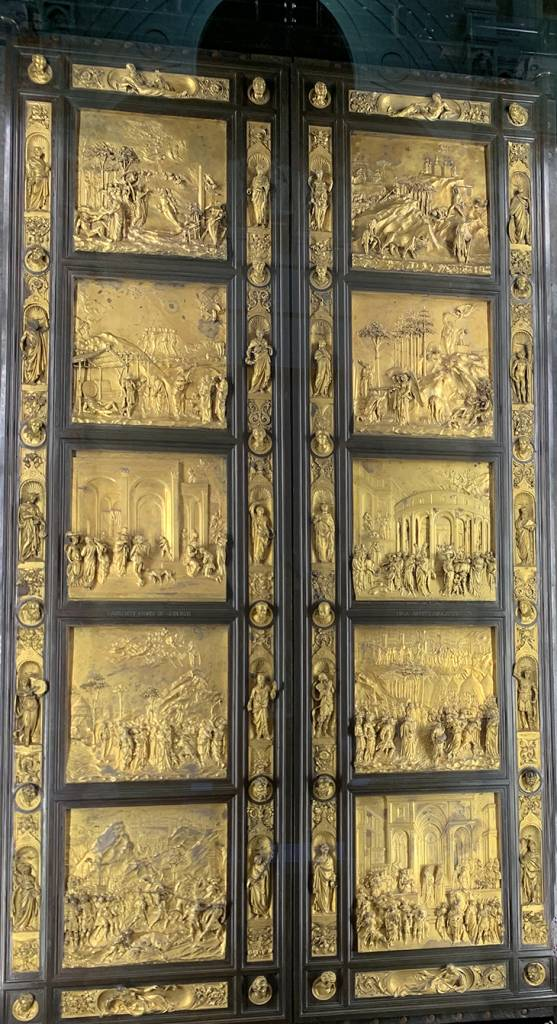 donatello sculptures, baptistery bronze doors, gates of paradise door, le duomo opera museum, museo dell opera di santa maria del fiore, lopera duomo, santa maria del fiore museum, baptistery artifacts, florence italy, northern italy, firenze