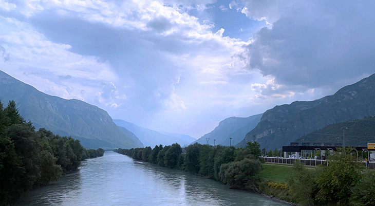 adige river, adige valley, northern italy, what to see near trento, what to do in trento, trentino, alto adige, nature scenery, mountains