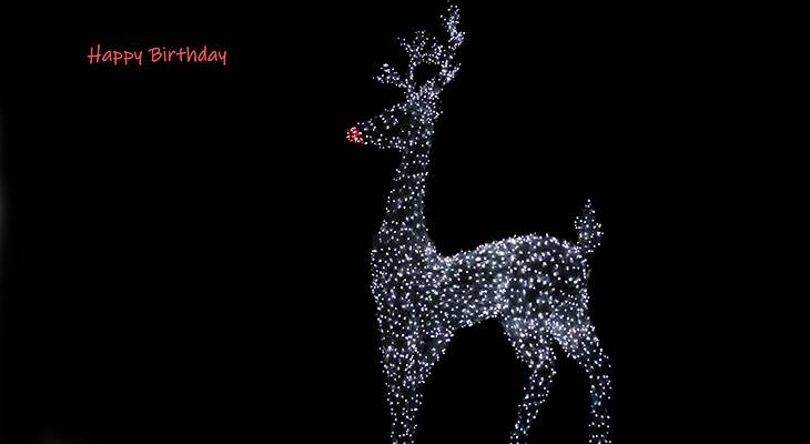 happy birthday wishes, birthday cards, birthday card pictures, famous birthdays, reindeer, christmas lights,