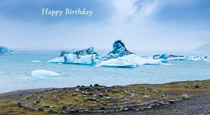 happy birthday wishes, birthday cards, birthday card pictures, famous birthdays, blue ice, icebergs, jokulsarlon, glacier, lagoon, iceland