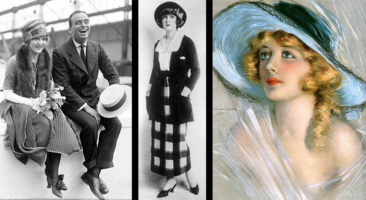 1920 ladies fashion, 1920s ladies hats, 1920s mens fashion, 1920s mens hats, 1920s style, 1920s actors, douglas fairbanks, mary pickford, marion davies, hairstyles, womens sportsuit, 1920s hat styles