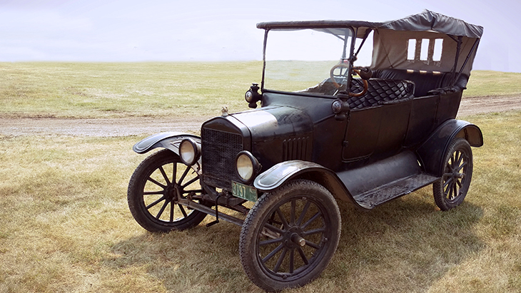 1920 automobile, 1920 car, black tin lizzie, ford model t, vintage automobiles, touring sedan