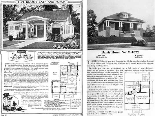 1920 kit homes, house kits, sears roebuck catalog homes, 1920 housing options, harris brothers homes, catalog houses,