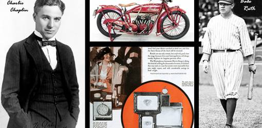 1920 sports, 1920 movies, 1920 household appliances, charlie chaplin, babe ruth, westinghouse stoves, historical images from 1920, fashion, films, baseball, 1920 motorcycle, indian scout motorcycle