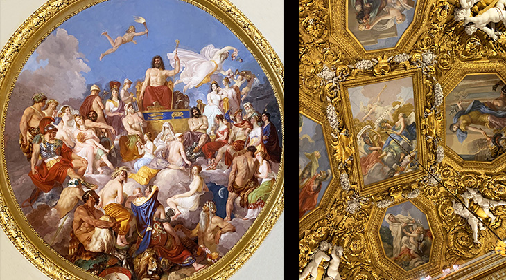 pitti palace, saturn room, ceiling frescos, olympus, the strength of victory, luigi sabatelli, zeus, renaissance art, historical paintings, palazzo pitti, medici palace, florence italy, firenze, italian castles,