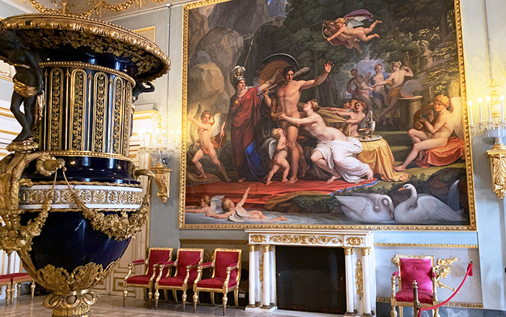 pitti palace, hercules at the crossroads painting, pietro benvenuti, hercules room, hall of hercules, neoclassicsm art, historical paintings, palazzo pitti, medici palace, florence italy, firenze, grecian urn, italian castles,