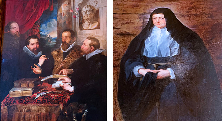 pitti palace, portrait of infanta clara eugenia, governess of the netherlands, peter paul rubens paintings, the four philosophers, renaissance artists, historical paintings, palazzo pitti, medici palace, florence italy, firenze, italian castles,