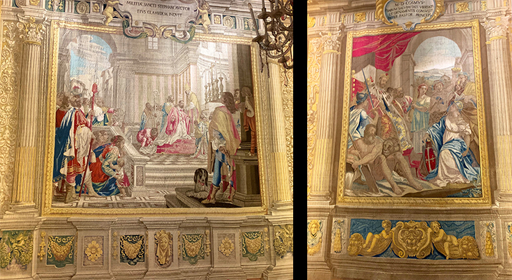 pitti palace, ferdinando ii tapestry commission, cosimo i de medici tapestries, wool and silk tapestries, cosimo i de medici, reclaims pisa countryside, receives investiture of order of st stephen, palazzo pitti, medici palace, florence italy, firenze,