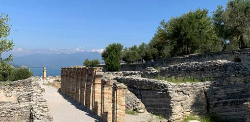 grottoes of catullus, grotte di catullo, cryptoportico, lake garda, early roman ruins, olive trees, sirmione museum, northern italy, travel to italy,