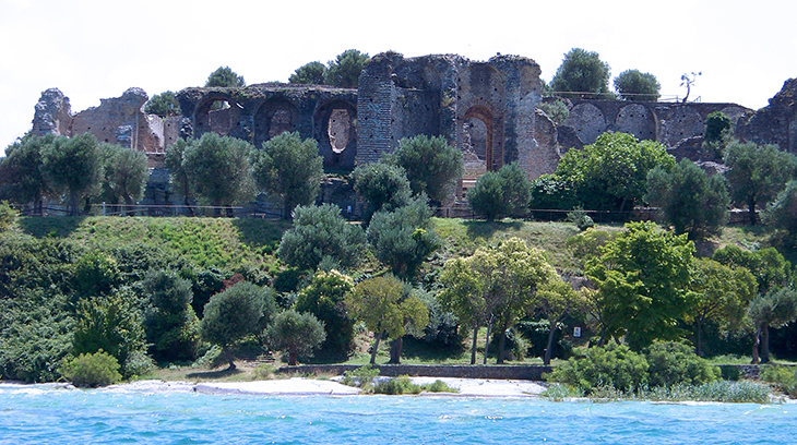 grottoes of catullus, grotte di catullo, lake garda, roman ruins, olive trees, sirmione museum, northern italy, travel to italy,