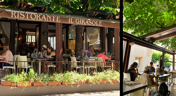 il girasole restaurant, old sirmione, northern italy plants, travel to italy, lombardy, brescia, italian lakes district,